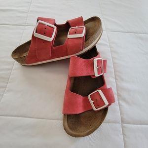 Limited Edition Birkenstock Arizona Red Sandals 37